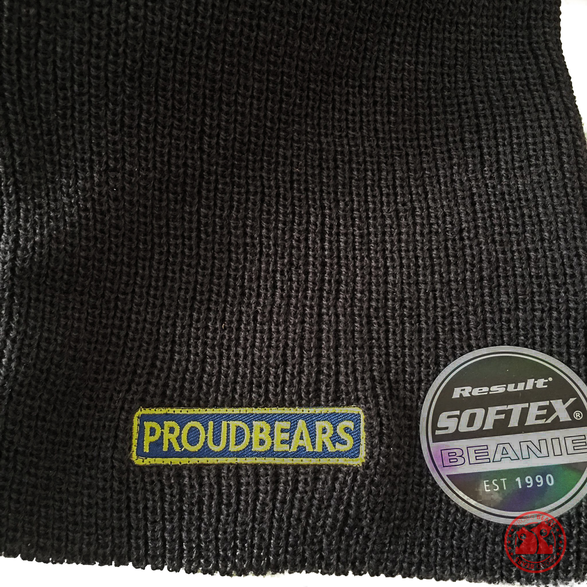 Navy Proudbears Wordlogo Long Beanie